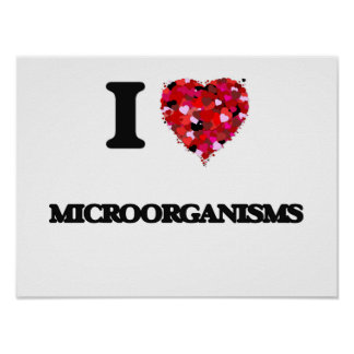 I Love Microorganisms Poster