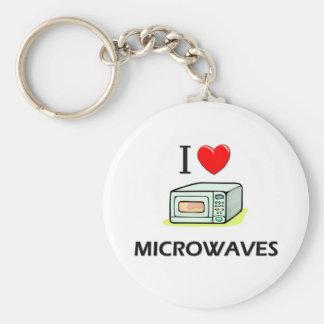 I Love Microwaves Basic Round Button Keychain