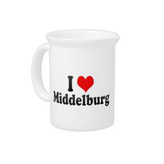 I Love Middelburg, South Africa Beverage Pitcher