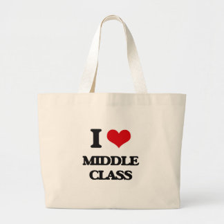 I Love Middle Class Jumbo Tote Bag