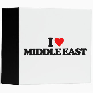 I LOVE MIDDLE EAST BINDERS