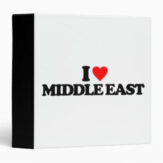I LOVE MIDDLE EAST 3 RING BINDER
