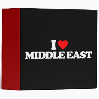 I LOVE MIDDLE EAST BINDER