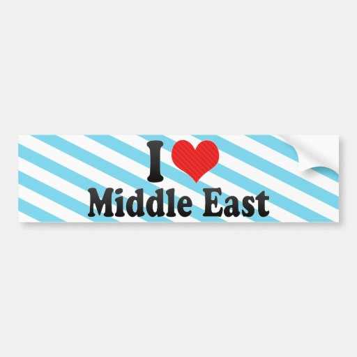 I Love Middle East Car Bumper Sticker