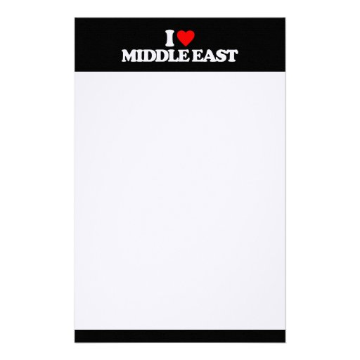 I LOVE MIDDLE EAST STATIONERY PAPER