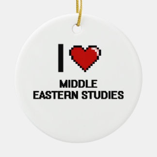 I Love Middle Eastern Studies Digital Design Double-Sided Ceramic Round Christmas Ornament