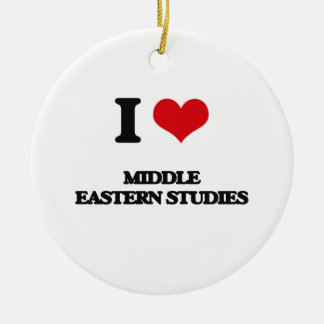 I Love Middle Eastern Studies Double-Sided Ceramic Round Christmas Ornament