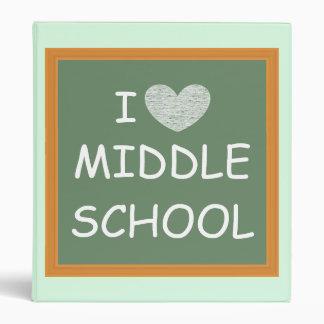 I Love Middle School 3 Ring Binder