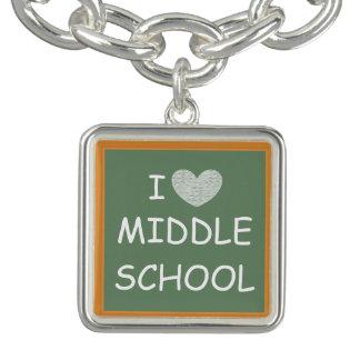 I Love Middle School Charm Bracelets