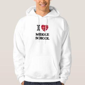 I Love Middle School Hooded Sweatshirts
