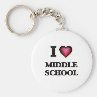 I Love Middle School Keychain