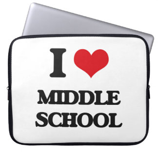 I Love Middle School Laptop Computer Sleeve