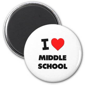 I Love Middle School Fridge Magnet