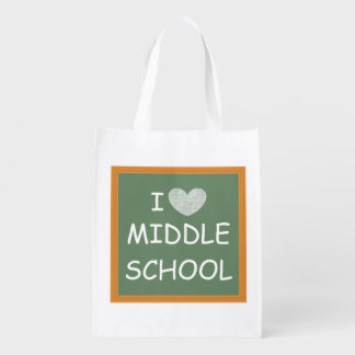 I Love Middle School Market Tote