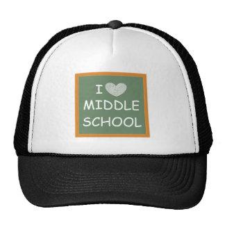 I Love Middle School Trucker Hat