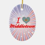 I Love Middletown, Delaware Christmas Ornaments