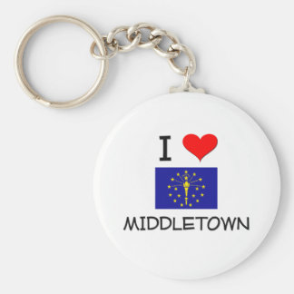 I Love MIDDLETOWN Indiana Key Chains