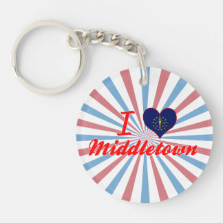 I Love Middletown, Indiana Acrylic Keychain
