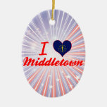 I Love Middletown, Indiana Ornament