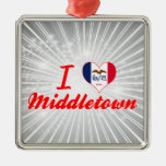 I Love Middletown, Iowa Ornament