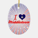 I Love Middletown, Kentucky Christmas Tree Ornaments