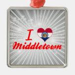 I Love Middletown, Missouri Christmas Ornaments