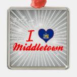 I Love Middletown, New York Christmas Ornaments