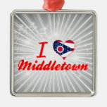 I Love Middletown, Ohio Christmas Ornaments