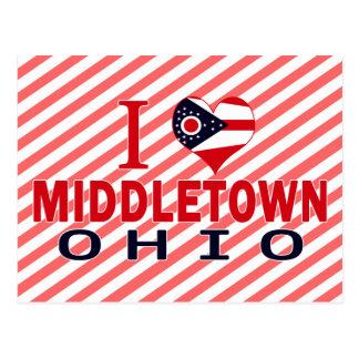 I love Middletown, Ohio Postcard