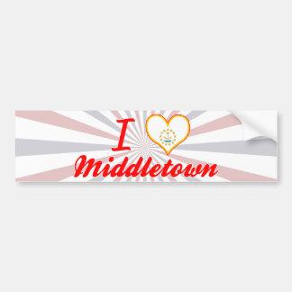 I Love Middletown, Rhode Island Bumper Sticker