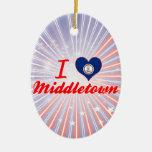 I Love Middletown, Virginia Christmas Ornaments