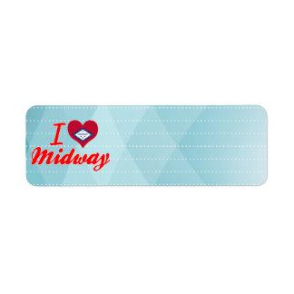 I Love Midway, Arkansas Return Address Label