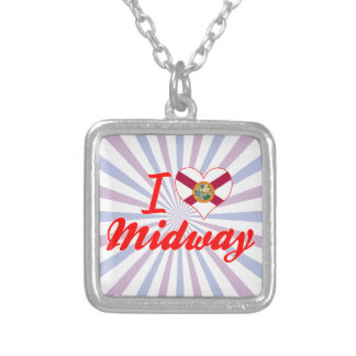 I Love Midway, Florida Personalized Necklace