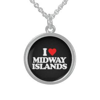 I LOVE MIDWAY ISLANDS PENDANTS