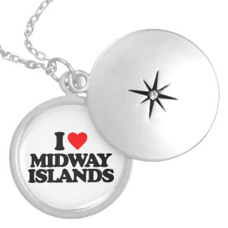 I LOVE MIDWAY ISLANDS NECKLACES