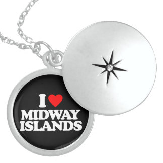 I LOVE MIDWAY ISLANDS NECKLACE