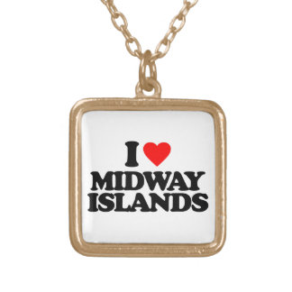 I LOVE MIDWAY ISLANDS PENDANT
