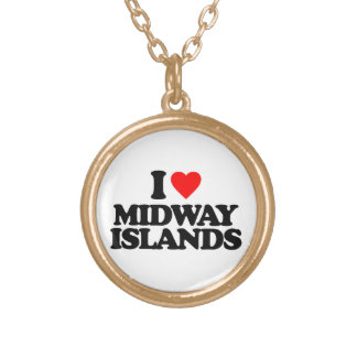 I LOVE MIDWAY ISLANDS PERSONALIZED NECKLACE