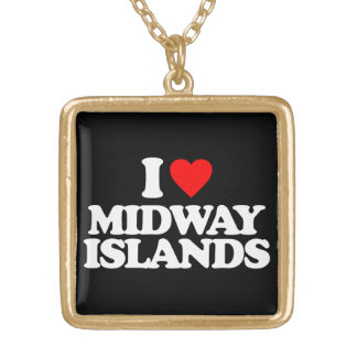 I LOVE MIDWAY ISLANDS CUSTOM NECKLACE