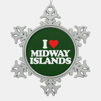I LOVE MIDWAY ISLANDS ORNAMENTS