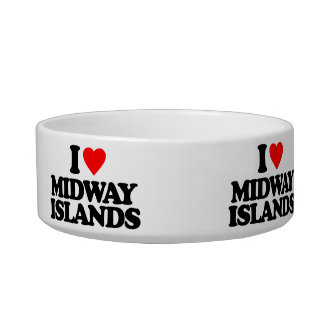 I LOVE MIDWAY ISLANDS PET BOWLS