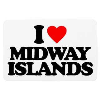 I LOVE MIDWAY ISLANDS RECTANGLE MAGNETS