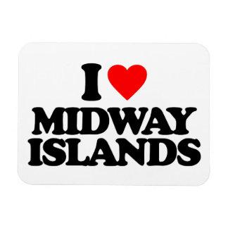 I LOVE MIDWAY ISLANDS MAGNET