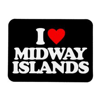 I LOVE MIDWAY ISLANDS VINYL MAGNET