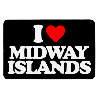 I LOVE MIDWAY ISLANDS RECTANGLE MAGNET