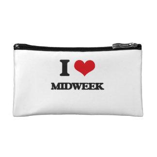 I Love Midweek Makeup Bags