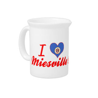 I Love Miesville Minnesota Drink Pitcher