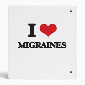 I Love Migraines Binders