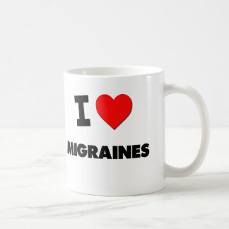 I Love Migraines Classic White Coffee Mug