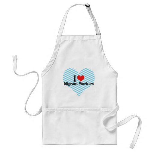 I Love Migrant Workers Aprons
